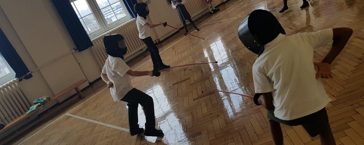 Fencing activities for schools London
