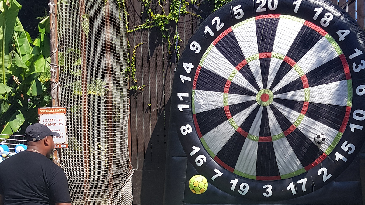 inflatable dart board hire london